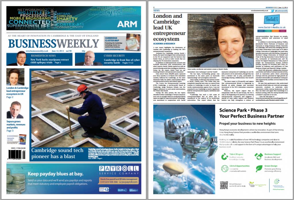 Business Weekly UK ecosystem