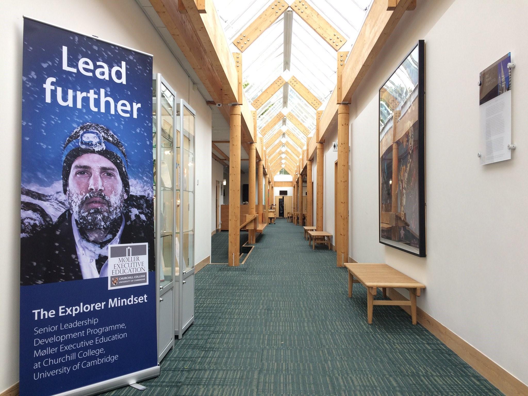 Moller explorer mindset banner in study centre