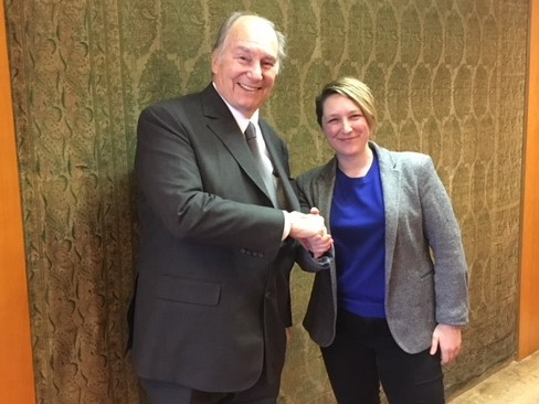 Anna Lawlor and His Highness Aga Khan