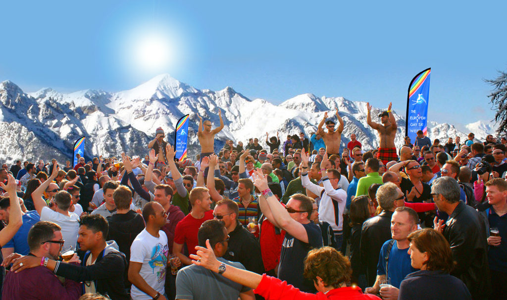 European gay ski week apres